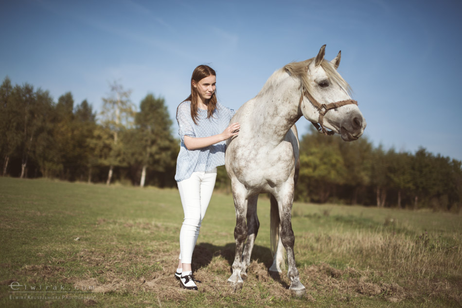 9 sesja fotograficzna plener konie Trojmiasto