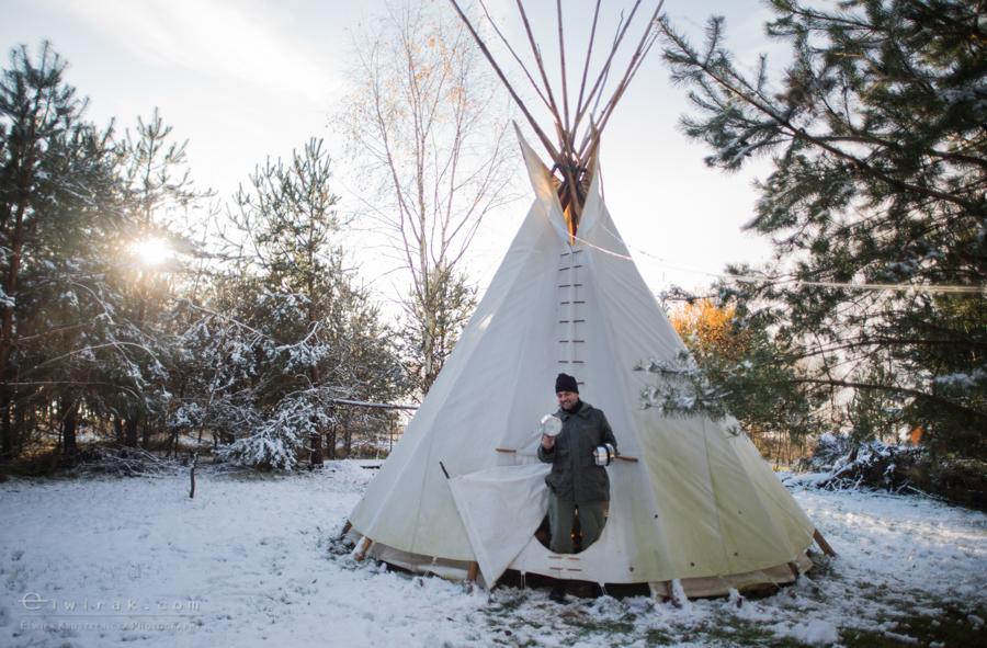 14 tipi zima szaman kaszuby Gdynia magia