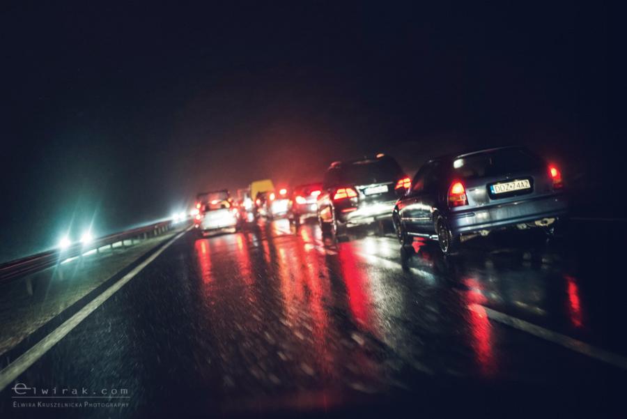 04 uliczna street droga noca szosa swiatla