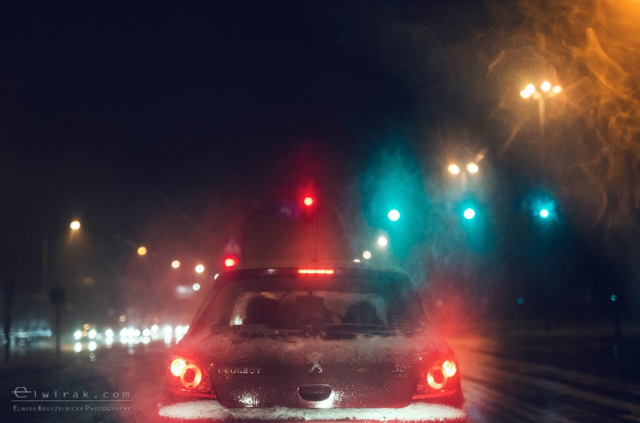 05 uliczna street droga noca szosa swiatla