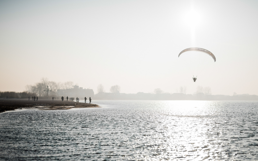 Rewa plaza paralotnie paraglading Baltyk morze