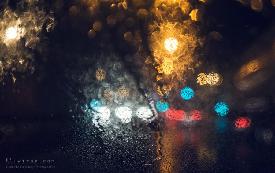 09 uliczna street droga noca szosa swiatla