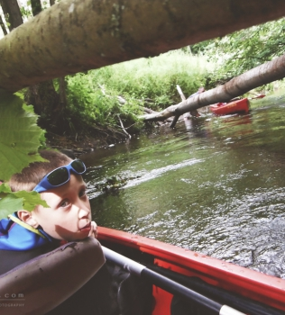 Canoeing on the Wierzyca